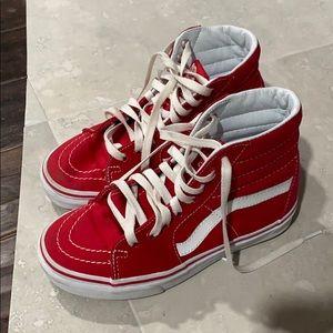 Red High Top Vans Size 3.5